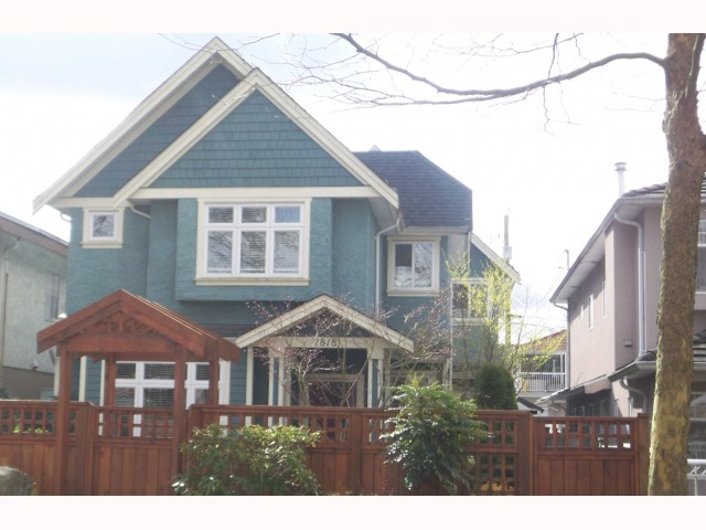 Main Photo: 1816 E 13TH Avenue in Vancouver: Grandview VE House 1/2 Duplex for sale (Vancouver East)  : MLS® # V817367
