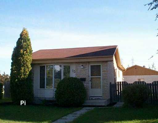 Main Photo: 15 BLAIRMORE GARDENS in WINNIPEG: Transcona Single Family Detached for sale (North East Winnipeg)  : MLS® # 2615286