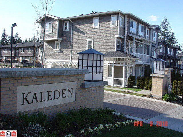 "Main Photo: 130 2729 158TH Street in Surrey: Grandview Surrey Townhouse for sale in ""Kaleden"" (South Surrey White Rock)  : MLS®# F1009545"
