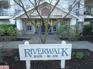 "Main Photo: 114 20976 56TH Avenue in Langley: Langley City Condo for sale in ""RIVER WALK"" : MLS® # F1018298"