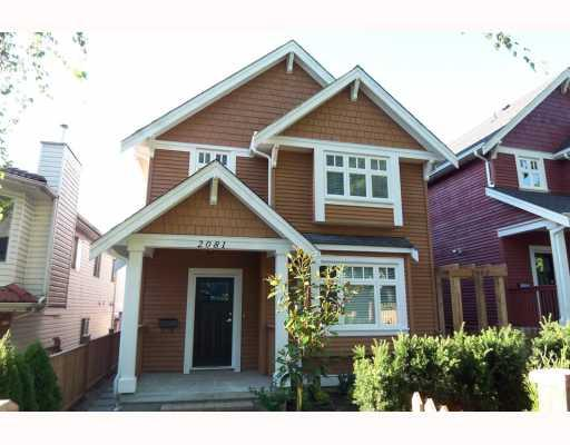 Main Photo: 2081 E 2ND Avenue in Vancouver: Grandview VE House 1/2 Duplex for sale (Vancouver East)  : MLS® # V780347