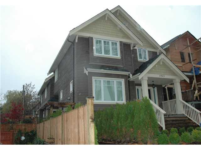 Main Photo: 1921 E 7TH Avenue in Vancouver: Grandview VE House 1/2 Duplex for sale (Vancouver East)  : MLS®# V858706