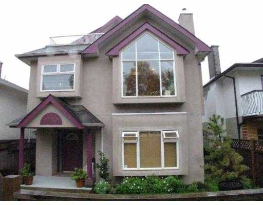 Main Photo: 3430 NAPIER ST in Vancouver: Renfrew VE House for sale (Vancouver East)  : MLS® # V562542