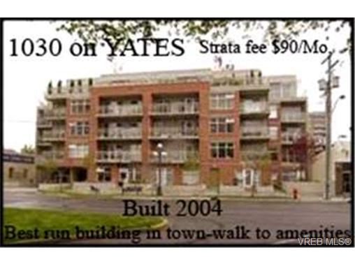 Main Photo: 303 1030 Yates Street in VICTORIA: Vi Downtown Condo Apartment for sale (Victoria)  : MLS® # 225566