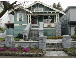 Main Photo: 1335 CYPRESS Street in Vancouver: Kitsilano House for sale (Vancouver West)  : MLS® # V758976