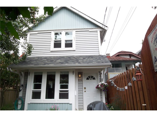 Main Photo: 834 UNION Street in Vancouver: Mount Pleasant VE House 1/2 Duplex for sale (Vancouver East)  : MLS® # V853256