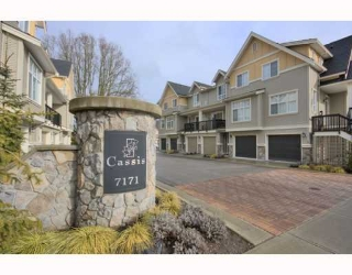 "Main Photo: 4 7171 STEVESTON Highway in Richmond: Broadmoor Townhouse for sale in ""CASSIS"" : MLS®# V754791"