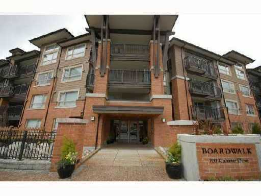 "Main Photo: 104 700 KLAHANIE Drive in Port Moody: Port Moody Centre Condo for sale in ""BOARDWALK"" : MLS®# V835165"