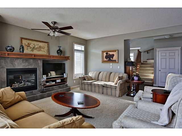 Brilliant size living room/family room with built in cabinetry