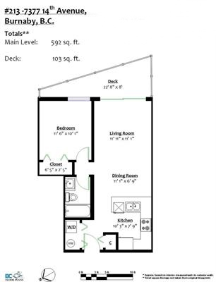 Floorplan 213 7377 14th Ave