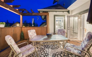Private courtyard deck to enjoy your views and a glass of wine.