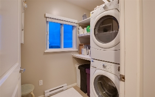 Convenient upper floor laundry