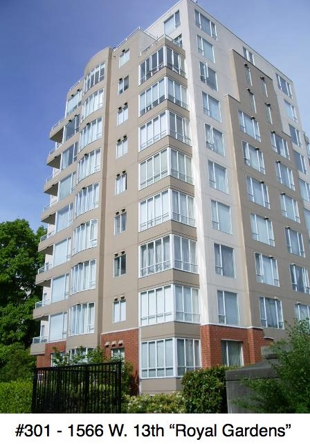 "Main Photo: 301 1566 W 13 Avenue in Vancouver: Fairview VW Condo for sale in ""Royal Gardens"" (Vancouver West)  : MLS® # R2011878"
