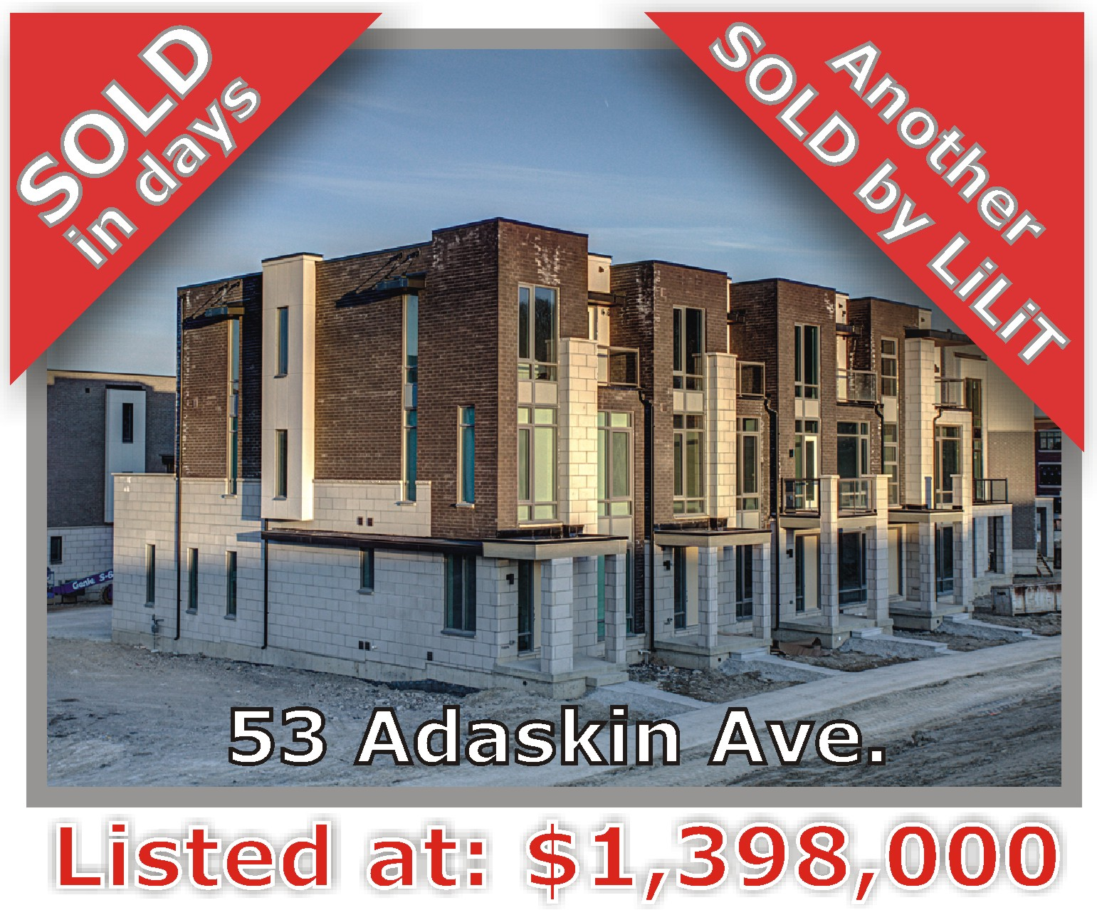 Main Photo: 53 Adaskin Avenue in Vaughan: Patterson Freehold for sale