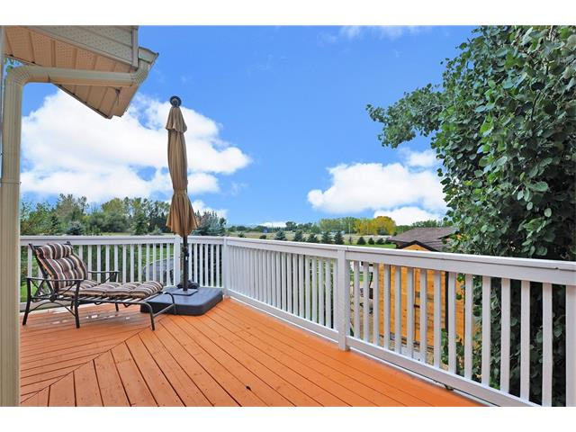 Beautiful large deck with mountain views on a clear day