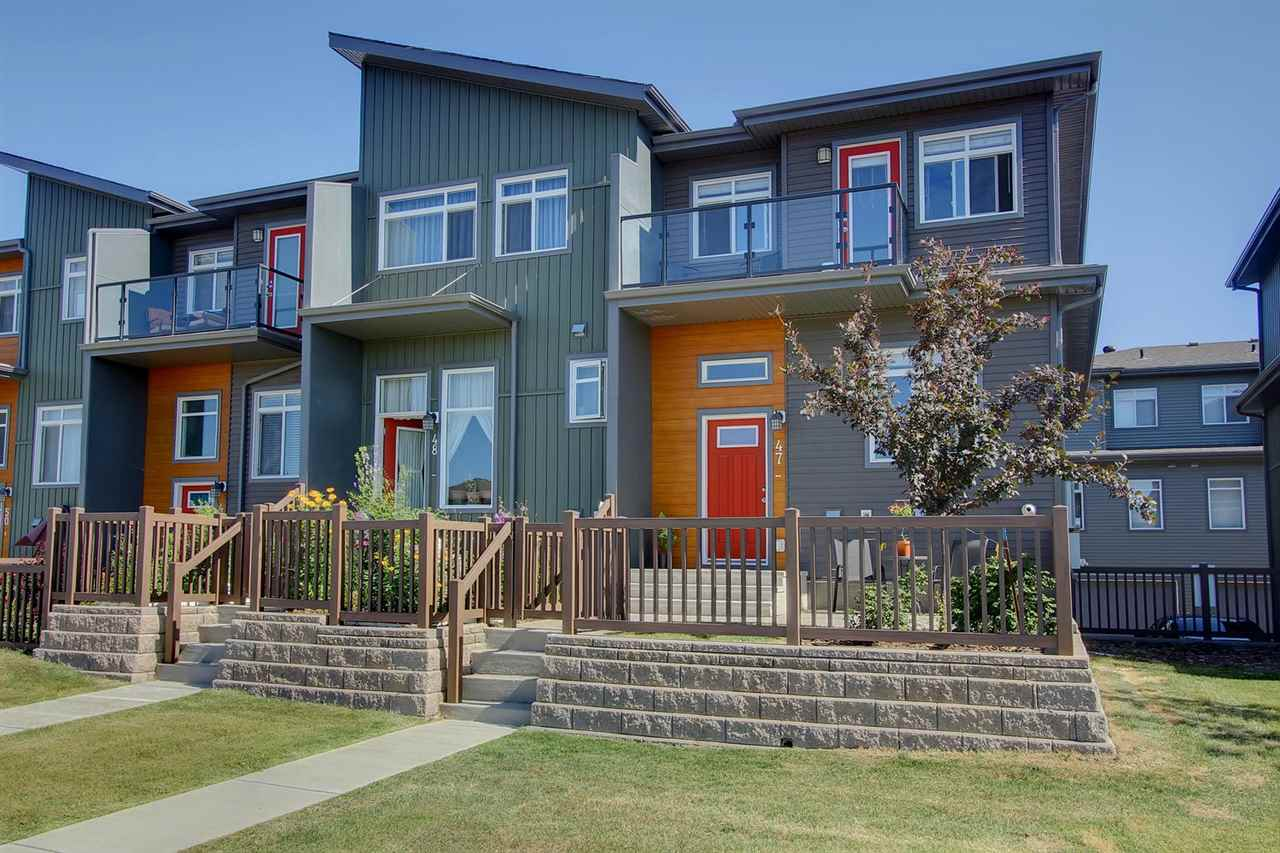 Main Photo: 47 7503 GETTY Gate in Edmonton: Zone 58 Townhouse for sale : MLS® # E4075410
