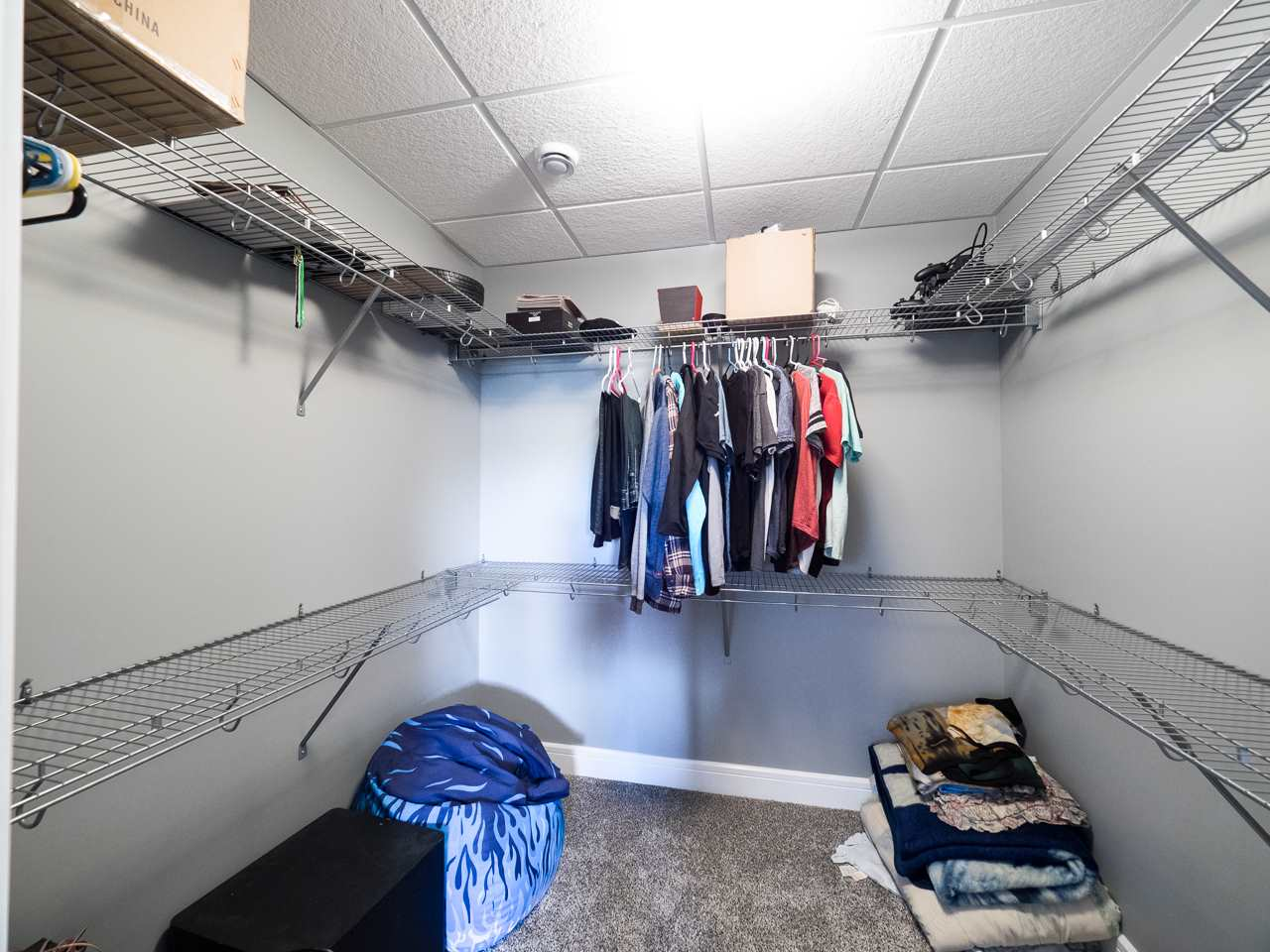 Walk in closet with the 4th bedroom.
