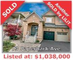 Main Photo: 73 Paperbark Ave in Vaughan: Patterson Freehold for sale