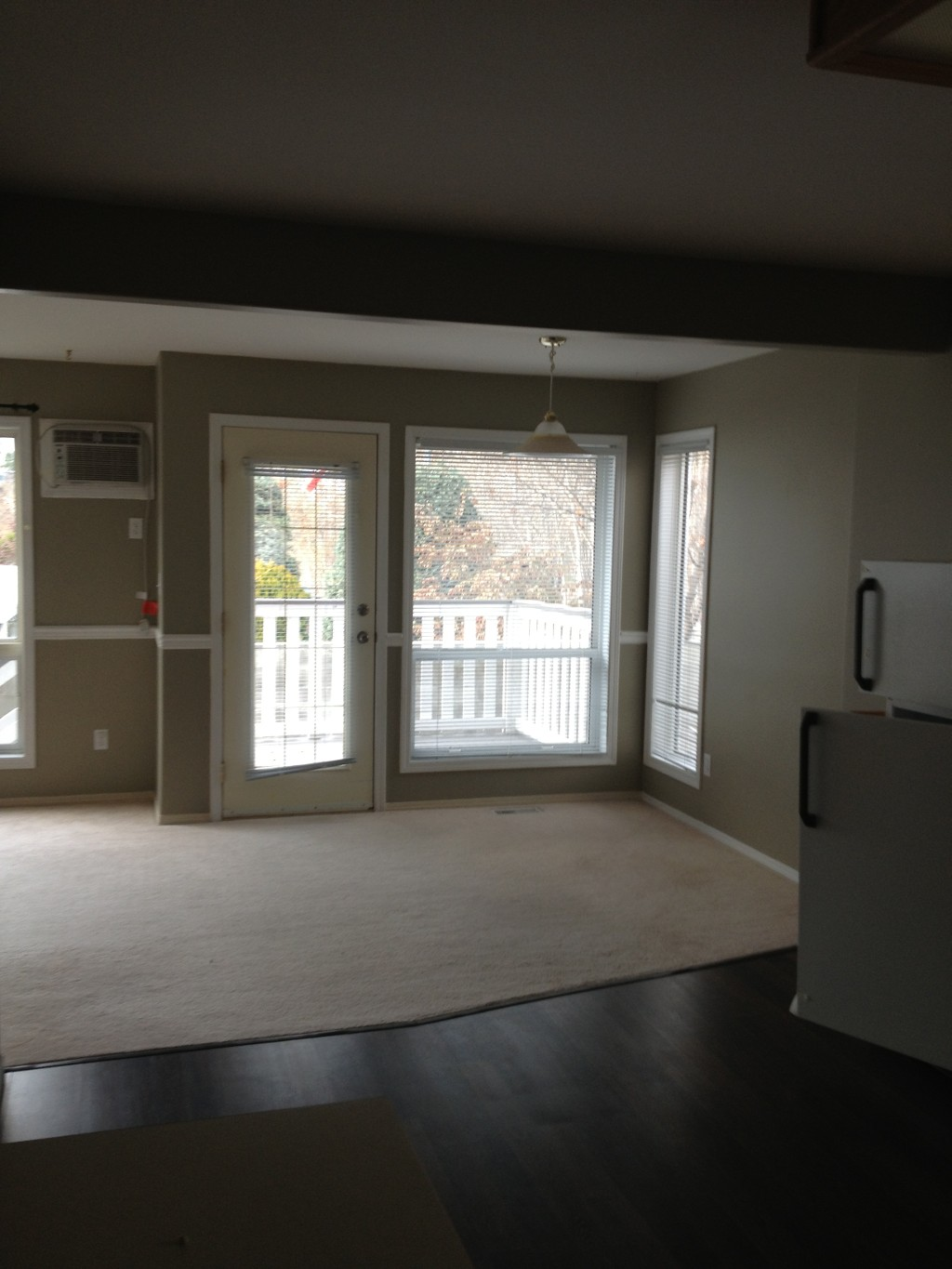 Dining area leading to back deck