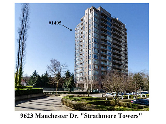 "Main Photo: 1405 9623 MANCHESTER Drive in Burnaby: Cariboo Condo for sale in ""STRATHMORE TOWERS"" (Burnaby North)  : MLS® # V1053890"