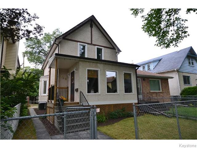 Main Photo: 750 Ashburn Street in WINNIPEG: West End / Wolseley Residential for sale (West Winnipeg)  : MLS(r) # 1525033