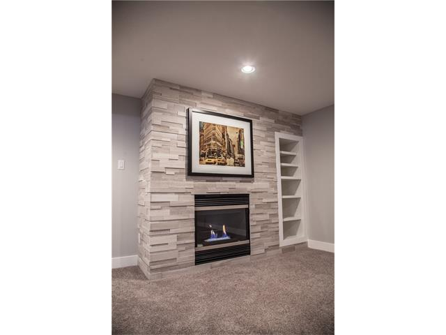 Cozy gas fireplace