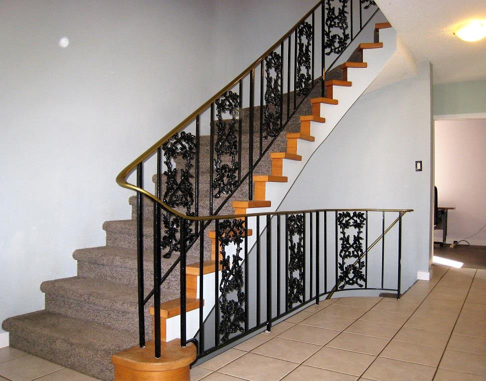 Ornamental Railings on curved staircase