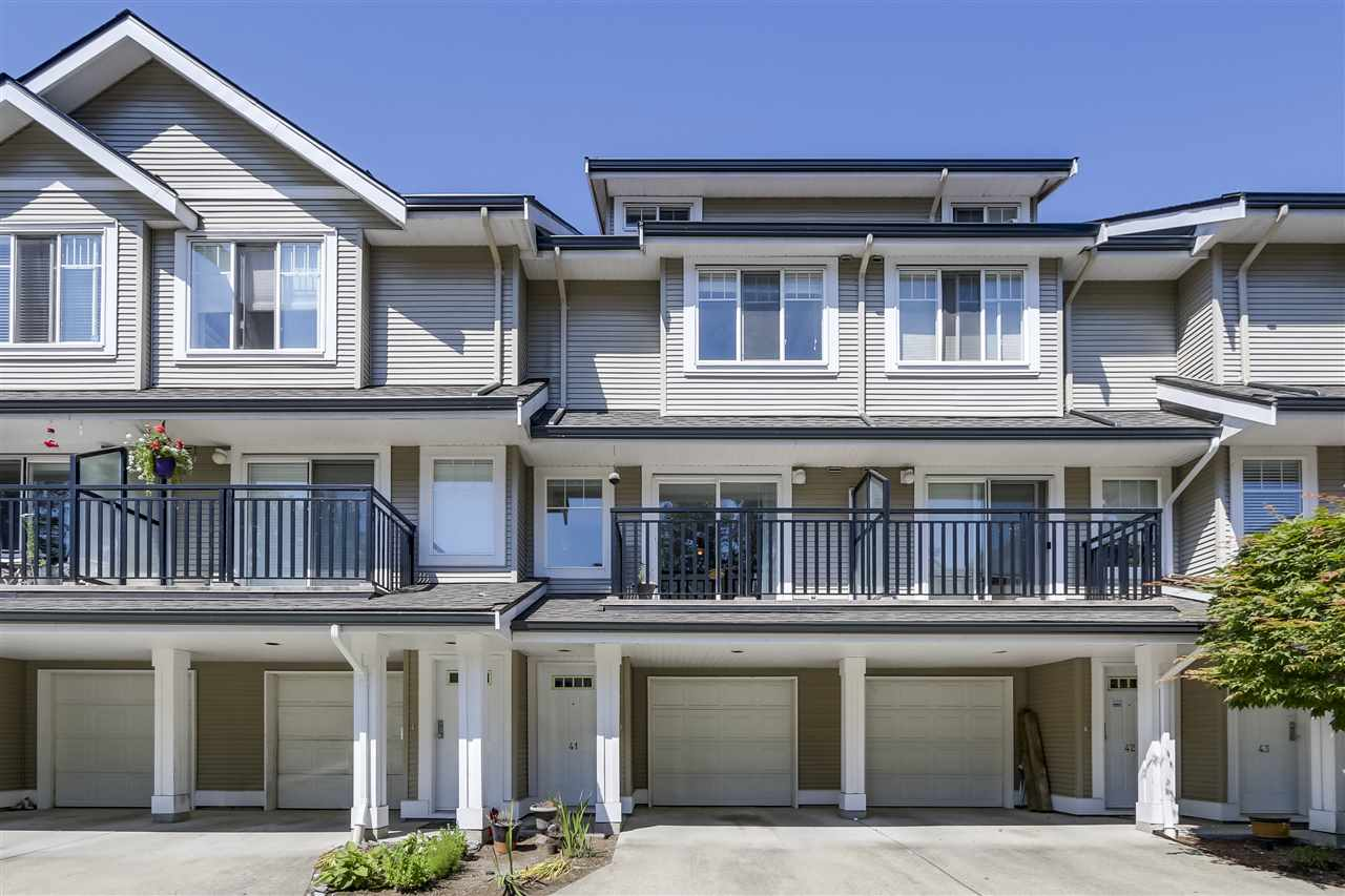 "Main Photo: 41 2927 FREMONT Street in Port Coquitlam: Riverwood Townhouse for sale in ""RIVERSIDE TERRACE"" : MLS®# R2314411"