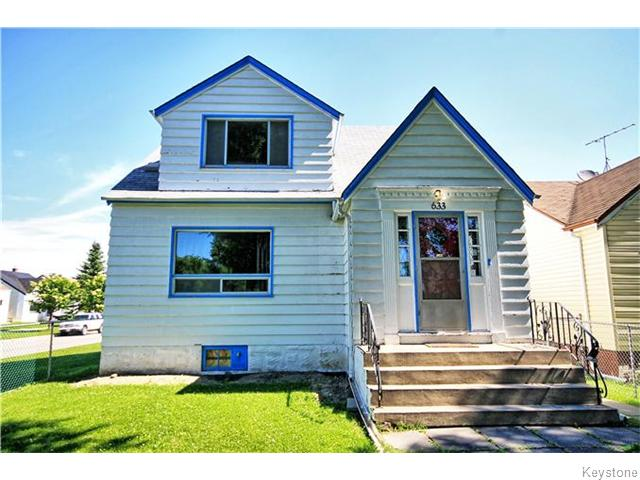 Main Photo: 633 Church Avenue in Winnipeg: North End Residential for sale (North West Winnipeg)  : MLS® # 1617324