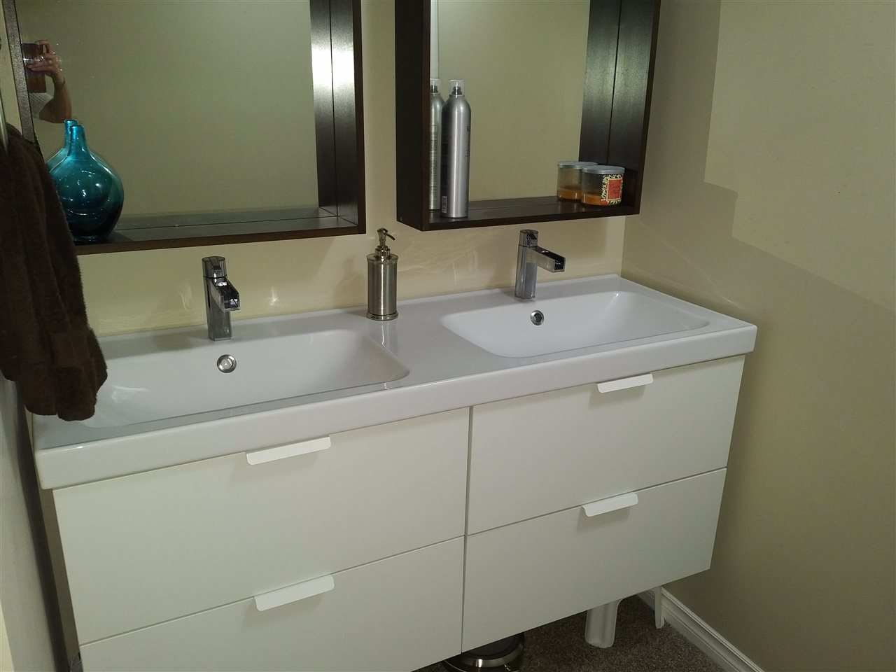 Basement suite bathroom