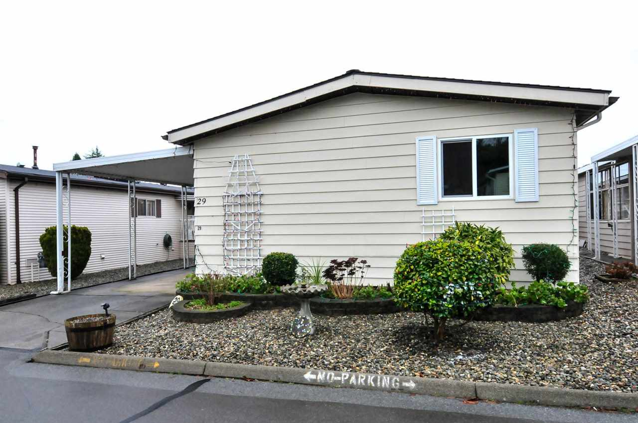 "Main Photo: 29 1640 162 Street in Surrey: King George Corridor Manufactured Home for sale in ""Cherry Brook Park"" (South Surrey White Rock)  : MLS® # R2038410"