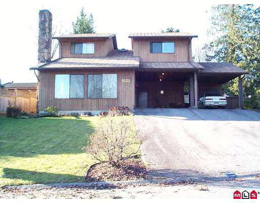 Main Photo: 9533 OBAN PLACE in : Queen Mary Park Surrey House for sale : MLS® # F2224097