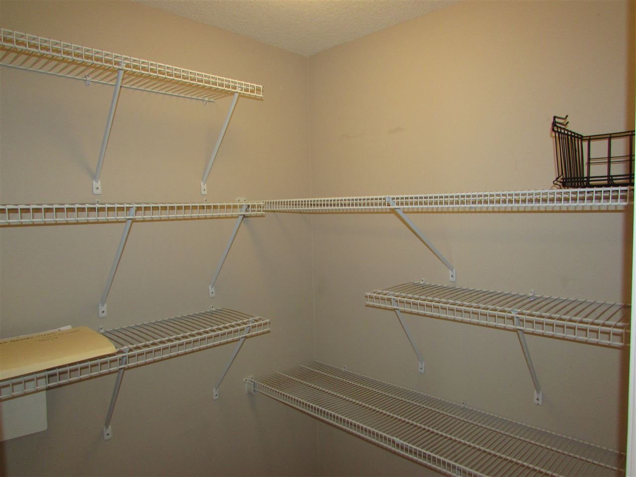 in-suit storage with shelving