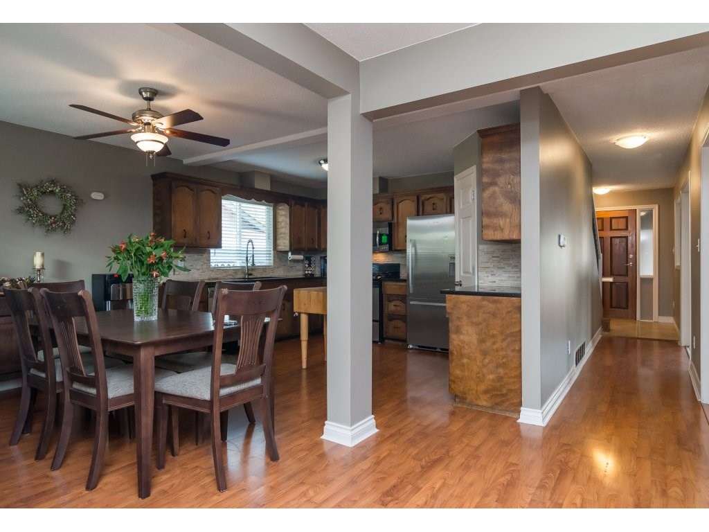 Open concept so you can see dining area and family room from kitchen - great for families and entertaining.