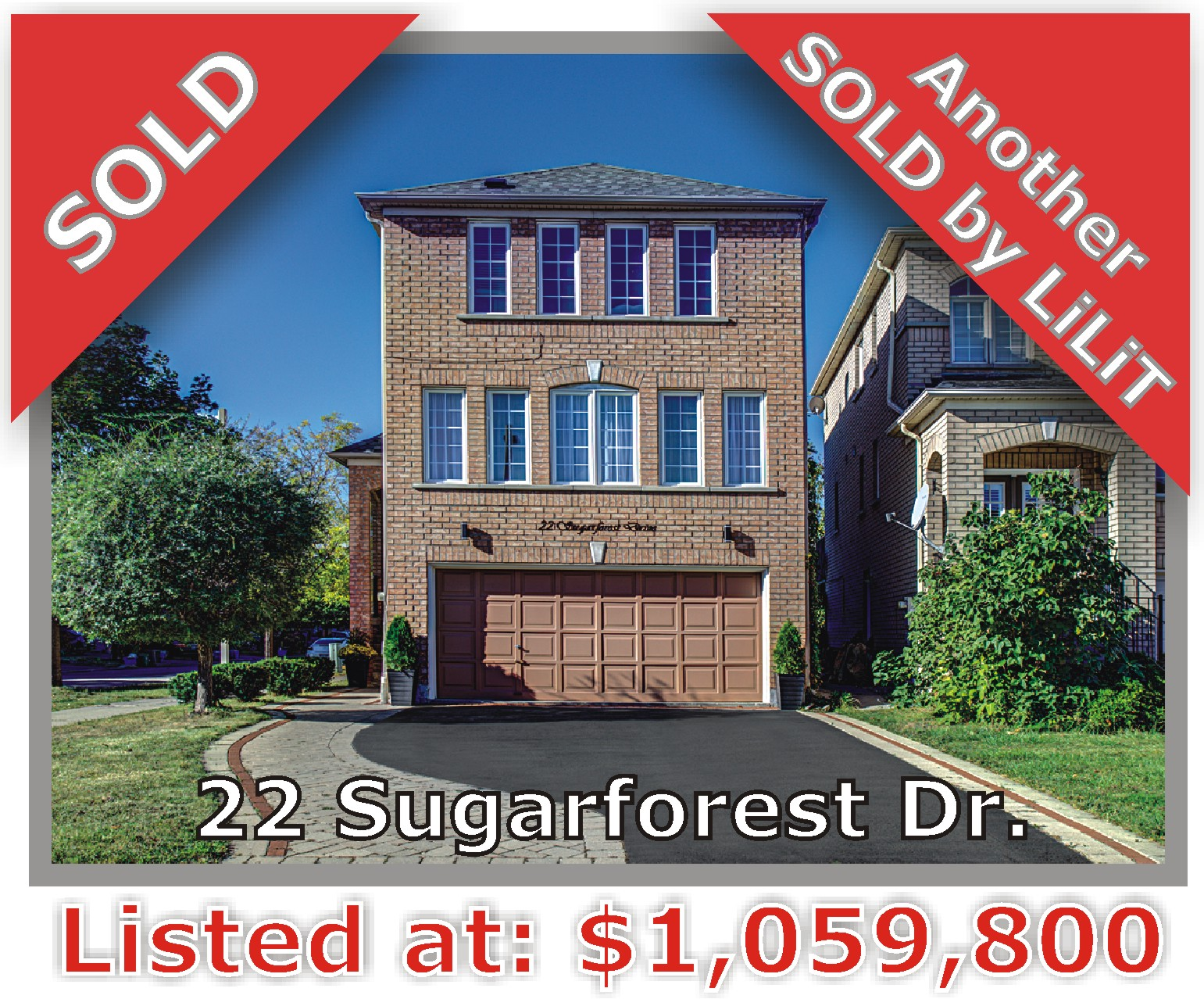 Main Photo: 22 Sugarforest Dr in Vaughan: Patterson Freehold for sale