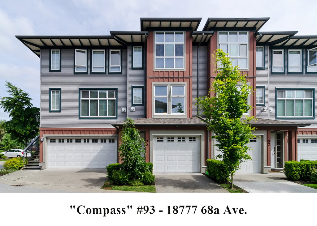 "Main Photo: 93 18777 68A Avenue in Surrey: Clayton Townhouse for sale in ""COMPASS"" (Cloverdale)  : MLS® # F1412670"