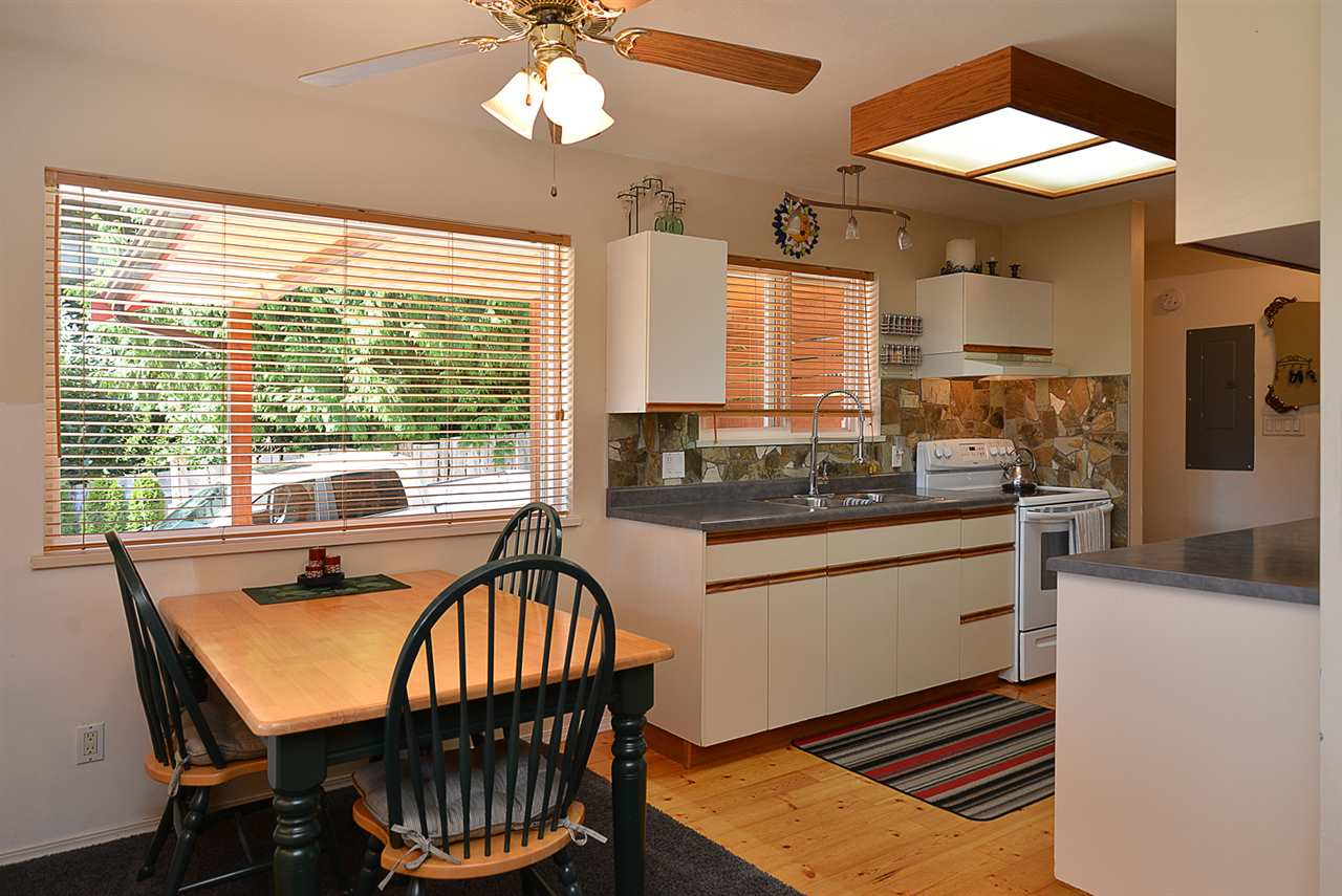Kitchen and dining area in the main house.  Custom built in 2002.