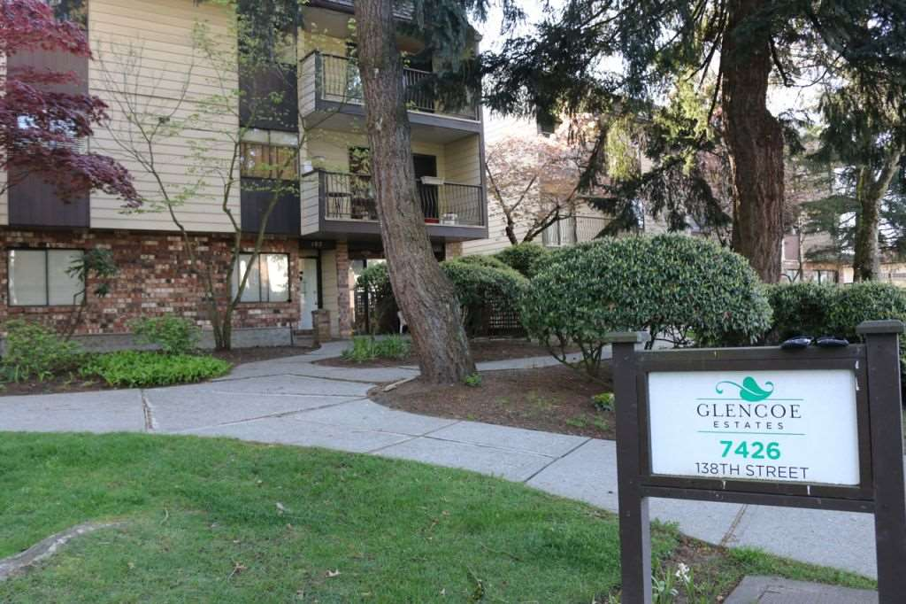 "Main Photo: 208 7426 138 Street in Surrey: East Newton Condo for sale in ""GLENCOE ESTATES"" : MLS® # R2193676"
