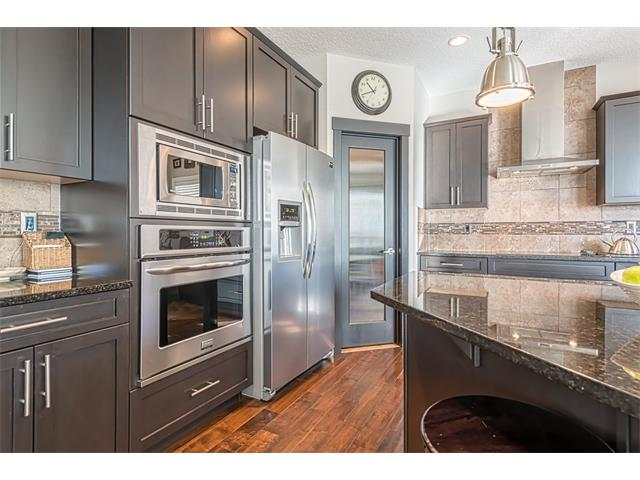 High end stainless steel appliances.