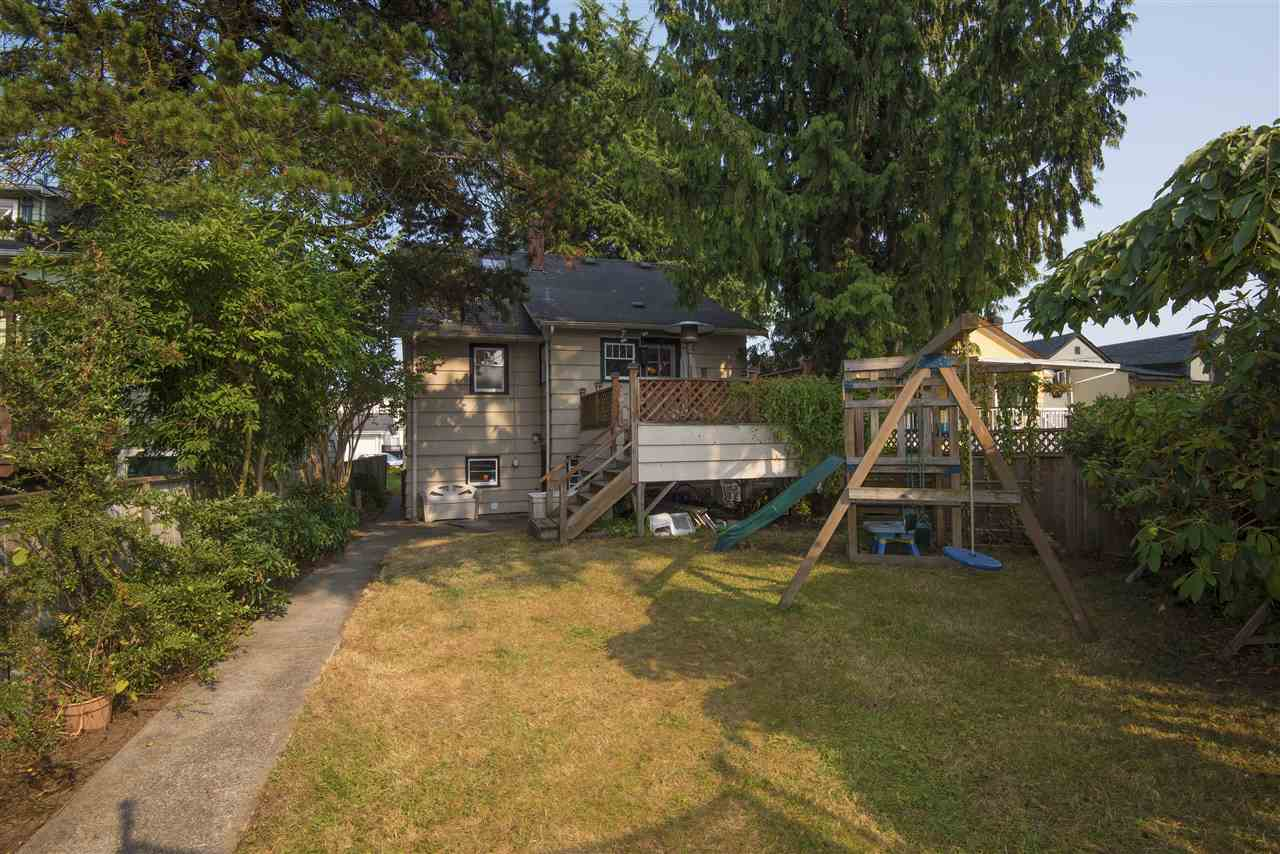 Easy access to the back yard from the sun deck. You have full view from the kitchen so it will be easy to watch your children playing. There is also a back lane & with RS1 zoning... you could add a laneway home with garage for family or rental.