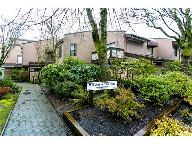 Main Photo: 2054 MARINE DR in West Vancouver: Ambleside Townhouse for sale : MLS® # V1012823