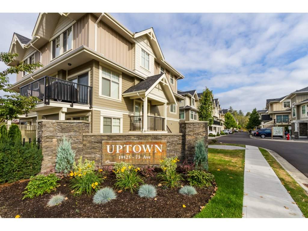 "Main Photo: 32 19525 73 Avenue in Surrey: Clayton Townhouse for sale in ""Uptown"" (Cloverdale)  : MLS®# R2104532"