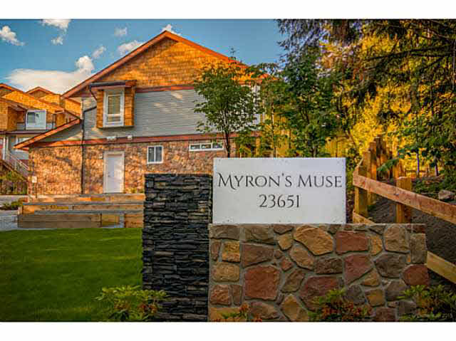 "Main Photo: 49 23651 132 Avenue in Maple Ridge: Silver Valley Townhouse for sale in ""MYRON'S MUSE AT SILVER VALLEY"" : MLS® # V1132336"