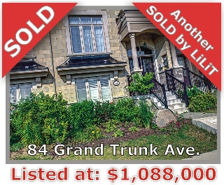 Main Photo: 84 Grand Trunk Ave in Vaughan: Patterson Freehold for sale