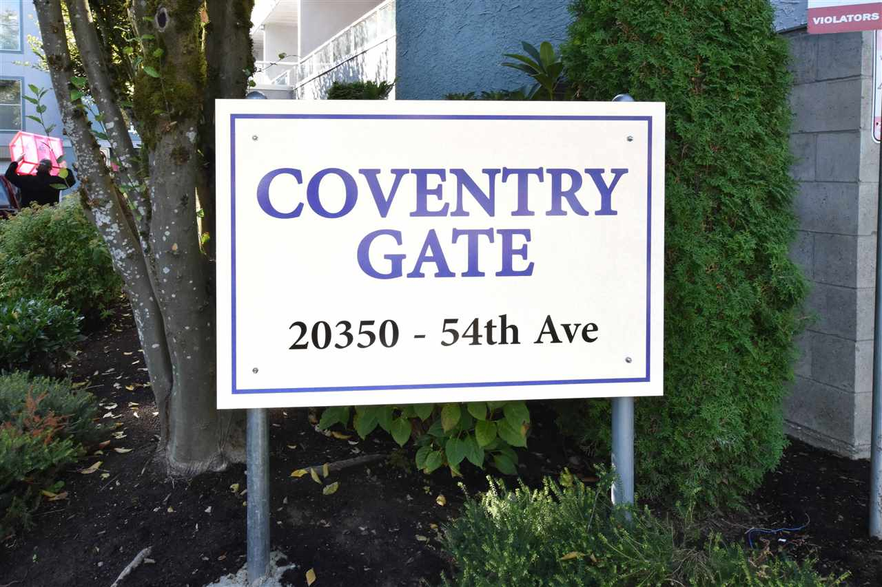 "Main Photo: 207 20350 54 Avenue in Langley: Langley City Condo for sale in ""Coventry Gate"" : MLS® # R2205641"