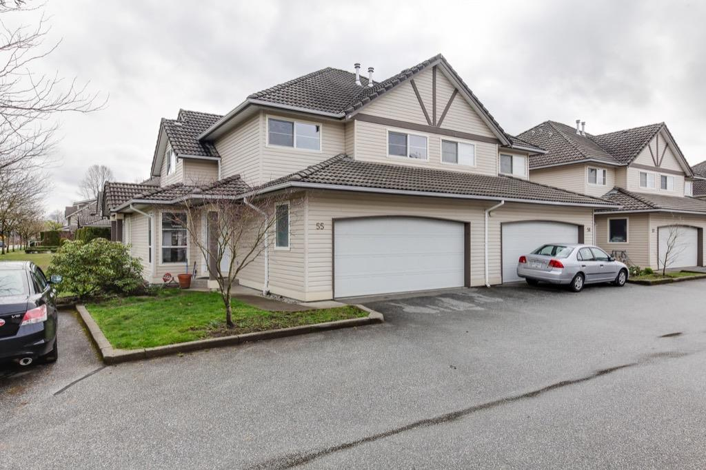 "Main Photo: 55 758 RIVERSIDE Drive in Port Coquitlam: Riverwood Townhouse for sale in ""Riverlane Estates"" : MLS®# R2252285"