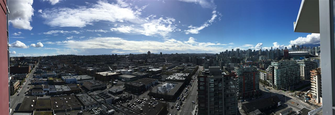 Panoramic views of Vancouver, BC Place, False Creek and North Shore Mountains