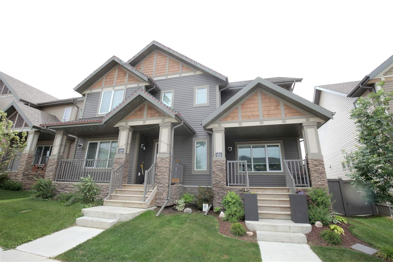 Main Photo: 191 Hawks Ridge Boulevard in Edmonton: Zone 59 House Half Duplex for sale : MLS® # E4071249