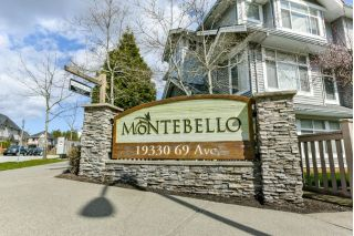 "Main Photo: 18 19330 69 Avenue in Surrey: Clayton Townhouse for sale in ""MONTEBELLO"" (Cloverdale)  : MLS®# R2302417"