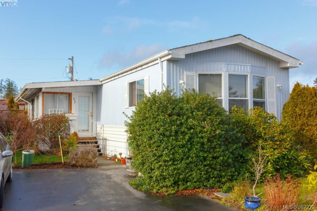 Main Photo: 57 7701 Central Saanich Road in SAANICHTON: CS Hawthorne Manu Single-Wide for sale (Central Saanich)  : MLS® # 387273